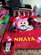 Minnie Mouse Karpet Bulu Boneka